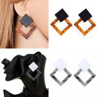 Fashion Women Acrylic Resin Geometric Statement Drop Dangle Earrings Jewelry