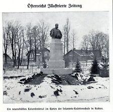 Ein neuenthülltes Kaiserdenkmal im Garten der Inf.-Kadettenschule Krakau v.1911