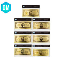 7pcs/lot 1928 Year US Dollar Plastic Card Decorative Bill Note Gold Banknote