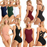 Womens Ladies Sleeveless Gymnastics Ballet Leotard Gym Dance Wear Sport Costume