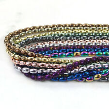 3mm-10mm Multi Color Natural Hematite Gemstone Rice Spacer Beads Strand 15.5-16""