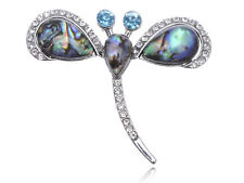 Silver Shell Clear Rhines Flying Petite Dragonfly Adjustable Fashion Ring Gifts