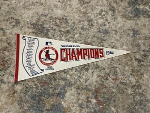 MLB St.Louis Cardinals 1982 World  Champions Scroll Pennant 30 Inches