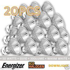 Energizer HALOGEN GU10 240V 40/50W LIGHT GLOBES BULB DOWNLIGHT CLEAR X 20