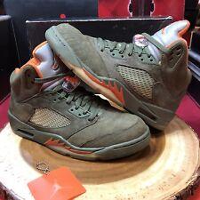 Nike Air Jordan Retro V Olive Army Size 9.5 Raging Bull DB CDP UNDFTD Fear