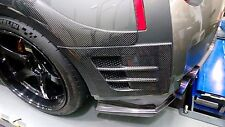 New Top Secret Style Carbon Fiber Rear Fender Ducts Vents for Nissan GTR R35