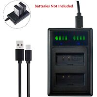 USB Dual Battery Charger For Canon DS126291 DS126491 DS126621 LP-E10 LC-E10 New