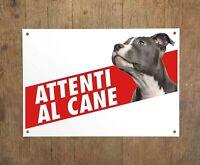 AMSTAFF American Staffordshire Terrier 2 Attenti al cane Targa cartello metallo