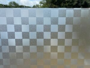 2m Frosted SQUARES Window Film Frost Privacy Glass Self Adhesive Vinyl 60cm