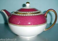 Wedgwood Ulander Powder Ruby Teapot Tea Pot Made in England Boxed New
