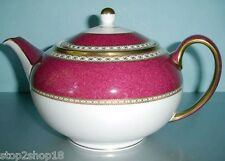 Wedgwood Ulander Powder Ruby Teapot Tea Pot Made in England Boxed New