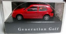 VW (39)B Volkswagen VW GOLF IV 2-türig orangerot OVP 1997 Werbemodell Promotinal