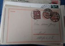 DR pre stamped postcard with message good postmark, social history