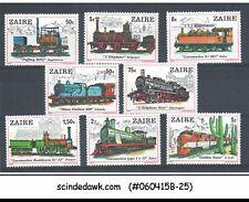 Zaire - 1980 Railway Locomotive / Train - 8V - Mint Nh