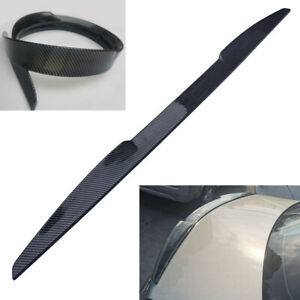 Universal 115cm Car Rear Trunk Lip Spoiler Self-adhesive Carbon Fiber Style 1Pc