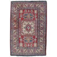 Caucasian Kazak Karachov Style Tribal Oriental Wool Rug, 20th Century