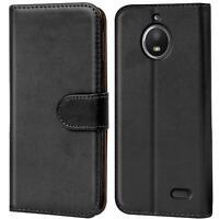 Book Case für Motorola Moto E4 Hülle Tasche Flip Cover Handy Schutz Hülle