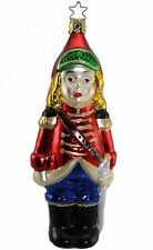 Inge Glas Owc 1084 The Littlest Soldier German Glass Christmas Ornament
