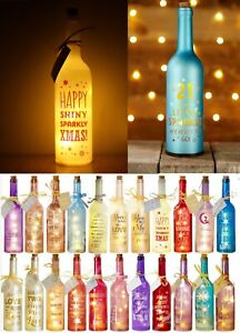 Starlight Bottles LED Light Up Christmas Birthday Jubilee Decoration Gift Friend