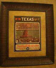 "VINTAGE TEXAS A&M COLLEGE FOOTBALL PROGRAM  FRAMED ""A&M VS U. OF TEXAS"" 1929"