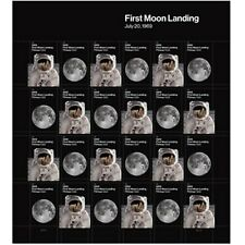 2019 50th Anniversary of the 1969 First Moon Landing Forever Sheet of 24 Stamps