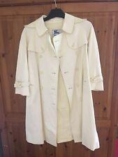 Burberry Girls Mac Coat 8-9 Pale Baby Yellow