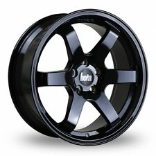 "17"" BOLA B1 ALLOY WHEELS BLACK 5X100 FITS SUBARU IMPREZA FORESTER LEAGCY OUTBACK"