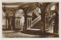 Northern Ireland postcard - Marble Staircase, City Hall, Belfast - RP (A86)