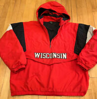 Wisconsin Badgers Starter Puffer Jacket Size Large EUC Vintage 90's