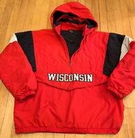 Wisconsin Badgers Starter Puffer Jacket Size Large EUC Vintage 90's