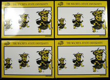 Four Vintage Postcards Wichita State University WSU Shockers 1980's Unused