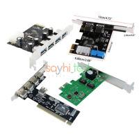 2/4/5 Ports 2/3.0 Express 4Pin&20Pin PCI/PCI-E USB Panel Controller Card Adapter