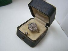 GORGEOUS GENUINE VINTAGE SOLID STERLING SILVER MARCASITE CLUSTER RING SIZE N 6.5