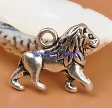 25pcs Tibetan Silver Charm Lion Pendant Accessories 20X13mm F3310