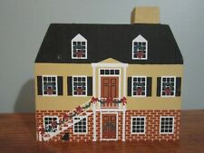 Simon Mirault Cottage Savannah Xmas Series 1986 Cat'S Meow Village Christmas