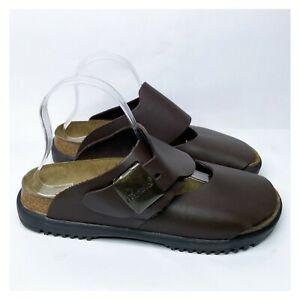 BETULA by Birkenstock Unisex Leather Straps Slip On Sandals Men's 8 Women's 10