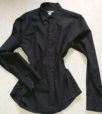 H & M  Herrenhemd schwarz 100 % Baumwolle Gr 41/42