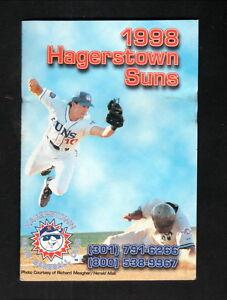 Hagerstown Suns--1998 Pocket Schedule--Domino's/Miller Lite--Blue Jays Affiliate