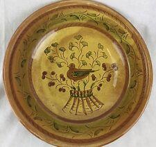 Vietri Italian Plate Hand Made Painted Bird Pottery Italy Tuscon Ceramic Display