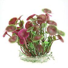 Plant Leaves Waterscape Lotus Artificial Plastic Purple Aquarium LW