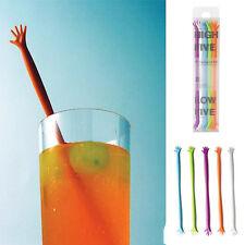 5pcs HELP ME Hand Drink Stirrers Bar/Party/Kitchen Cocktail Swizzle Stick SET CN