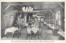 NEWTON NEW JERSEY COCHRAN HOUSE~THE LOG CABIN DINING ROOM~STONE FIREPL POSTCARD