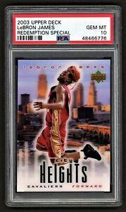 2003 UPPER DECK LEBRON JAMES REDEMPTION SPECIAL CITY HGTS ROOKIE PSA 10 GEM MINT