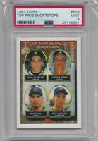 CHIPPER JONES 1993 Topps #529 Top Prospects Graded PSA 9 MINT Atlanta Braves HOF
