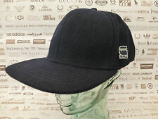 G-STAR RAW Flat Brim Cap OTIS Mar Blue Wool Blend Hat O/S-Fitted Caps New R£45