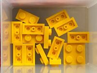LEGO 3023 PLATE 1x2 TRANS YELLOW QTY x 15 BRAND NEW PARTS