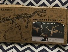 BC Bones 3-D Puzzle Pteranodon Wooden Dinosaur Kit Small Opened Complete