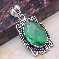 "Green Quartz Jewelry Handmade Pendant 2.2"" AP 46456"