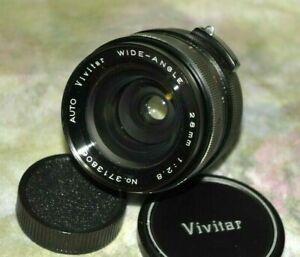 Vivtar Auto Wide Angle 28mm f/2.8 M42 mount Lens ++
