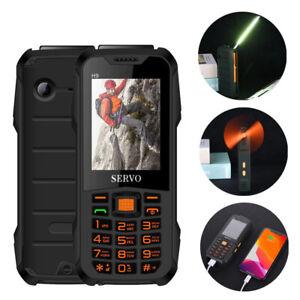 Servo H9 Mini Mobile Phone LED Table Lamp Fan Radio Dual Sim GPRS Camping Phone